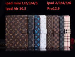 """Portefeuille de protection en Ligne-Classique Designer Étui iPad Flip Portefeuille Impression Monogramme En Cuir Pu Tablette PC Cases Pour Apple iPad Pro 12.9 """"Air 2/3 Antichoc Pour iPad 5 6"""