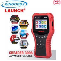 Lança scanner de código obd2 on-line-LAUNCH Creader CR3008 Auto OBD2 OBDII Leitor de Código de Falha Do Motor Do Carro Auto Scanner PK AD510 KW850 OBD 2 Ferramenta de Diagnóstico