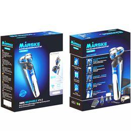 MARSKE Rasoir électrique 4 en 1 rotatif Trois lames homme multifonctionnel chargé Rasoir soin du visage tondeuse à nez mens 3D intelligent rasoir DHL ? partir de fabricateur