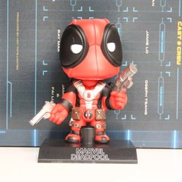 2019 wobbler wacker bobble Marvel Legends Deadpool Wacky Wobbler Bobble Cabeça PVC Action Figure Collectible Modelo Toy 5