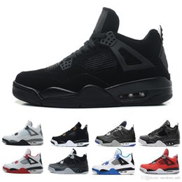 Deporte 89 online-Zapatillas de baloncesto para hombre Chaussures Gato negro Hombre 4s Alternativo 89 Bred Cavs negro Oreo Toro premium Zapatillas de deporte deportivas al aire libre