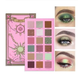 Ombres à paupières vertes en Ligne-UCANBE Sortilège Eyeshadow palette vibrante yeux verts Maquillage 18 Couleurs Glitter Shimmer Matte Metallic Eye Shadow Nu cosmétiques
