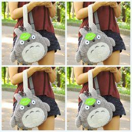 Totoro saco infantil on-line-Totoro dos desenhos animados Hayao Miyazaki Mochila Crianças Estudantes Sacos Encantadores Parental Mochila Casual Folha Verde Moda Venda Quente33mzf1