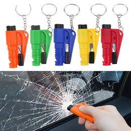 2019 auto leben 3 in 1 Auto Notfall Glassicherheitshammer Rescue Tool Sicherheitsgurtschneider Autofenster Breaker Lebensrettende Schlüsselbund Escape Tool HHA222 günstig auto leben