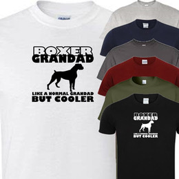 cad9843e boxer grandad novelty t shirt (all dog breeds available) Funny free  shipping Unisex Casual affordable men funny boxer