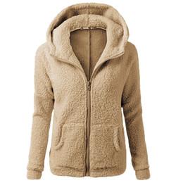 Giacche in velluto xxxl online-Nuova giacca da donna in felpa maglione 2018 autunno e inverno più giacca da donna ispessita in velluto sciolto casual da donna S-XXXL