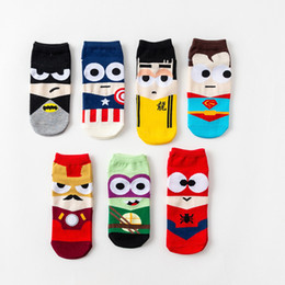 Argentina Calcetines de superhéroe unisex Marvel Avengers Mens tobillo No Show Calcetines Estilo de corte bajo para adultos Calcetín de tobillo Deportes Animadoras Zapatillas de deporte Suministro