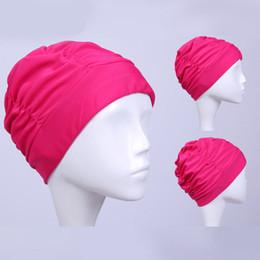 7280a5077b1 2019 uomini di cappelli di nylon Nuova cuffia da nuoto Protegge le orecchie  Cuffie da nuoto