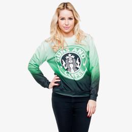 café à capuche Promotion Femmes Sweat Guns Coffee 3D Imprimé Fille Taille Gratuite Extensible Hoodies Décontractés Lady Manches Longues Tops Numérique Sweatshirts Graphique (R30444)