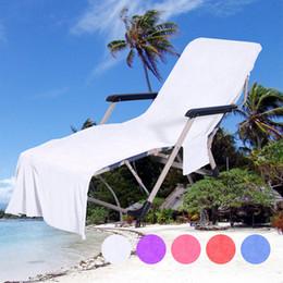 toalha de fibra Desconto 9 cores Superfine Fibra Cadeira de Praia Tampa de Cadeira de Praia Toalha de Praia Dupla Camada de Cobertura de Freeshipping