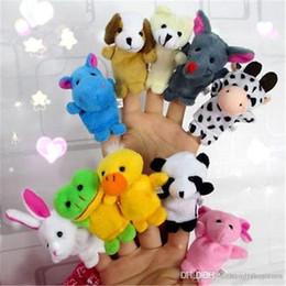 2019 brinquedos agrícolas por atacado Atacado-2016 10PCS Farm Zoo Animal Fantoches de dedo Brinquedos Meninos Meninas Babys Party Bag Filler NOVO kawaii brinquedos de pelúcia desconto brinquedos agrícolas por atacado