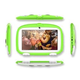 Google touch tablet online-Tablet PC da 7 pollici Quad Core 8 GB Doppia fotocamera Wifi Google Player Bambini Pad Q718 Touch Screen Andorid Regalo Cartoon Dog DHL