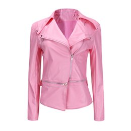 plus size pink top coat Coupons - 2018 Winter Jacket Plus Size Womens Parkas solid Winter Warm Women Short Coat Leather Jacket Parka Zipper Tops Overcoat Outwear