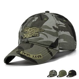 Gorras de béisbol fuerzas especiales online-Navy Seal Tactical Baseball Caps Commando Gorras Gorras para hombre Fuerzas especiales Sombreros de soldado Sniper Camuflaje Camo Visor Sombreros