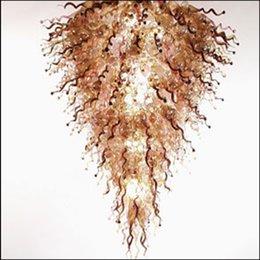 Fabricantes de arañas online-Zhongshan Fabricante Lámparas de cristal de Murano sopladas hechas a mano Luces de cristal de Murano de ahorro de energía para la decoración del vestíbulo del hotel