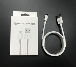 Orijinal Perakende Paketi ile Kutu Tipi C USB Kablosu 1 M 3FT Beyaz Yuvarlak Telefon için şarj Kablosu Samsung S8 S9 Not 7 8 9 Huawei P10 nereden diş ipi tedarikçiler