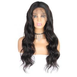 Pelucas delanteras del cordón del pelo del bebé para online-10A Color natural Cabello brasileño Recto Pelucas de cabello humano con cabello de bebé Rizado rizado 4 * 4 Pelucas delanteras de encaje Body Wave para mujeres negras