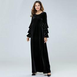 Vestido negro largo invierno 2019