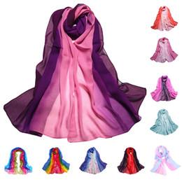 Deutschland 9 Farbverlauf Mode Chiffon Schal Damen Lange Wraps Und Tücher Dame Frühling Herbst Schals Plus Größe Bandana Hijab Stolen cheap bandana scarf size Versorgung