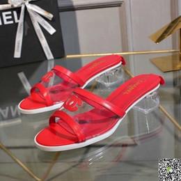sandálias abertas para as mulheres Desconto 2018 estilo das mulheres chinelo sandálias de verão moda dedo aberto uma palavra cabeça arrastar camada de couro nova edição senhora plana