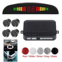 sensores de distancia de coche Rebajas Car Auto vehículo sistema de reserva reverso con 4 sensores de detección de distancia y el LED Distancia visualización del sonido de advertencia