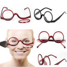 lunettes de rabat Promotion Lunettes de lecture Maquillage Flip Pliantes Lunettes Femme Femmes Filles Cosmétiques Général Lecture Eyewear 1.0 1.5 2.0 2.5 3.0 3.5 Force WX9-1303