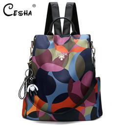 Bonitas mochilas para meninas on-line-Durable Tecido Oxford saco de escola Moda Anti Theft Mulheres Backpack bonito do estilo Girls School Backpack Feminino Viagem Backpack