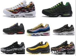 the best attitude 561ce c6445 New Airs Cushion 95 TT Premium Triple Black White 95s Men Running Shoes OG  Grape Neon Red Trainers Desinger Sports Sneakers40-45