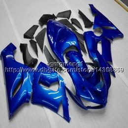 plastica zx636 Sconti 23 colori + regali blu motocicletta per Kawasaki ZX 6R ZX636 2005 2006 carenatura in plastica ABS