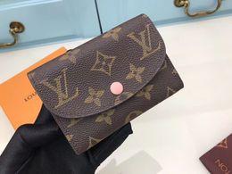 sacchetto di immagazzinaggio del earbud all'ingrosso Sconti moda Nuovo raccoglitore bianco griglia con scatola donna vera pelle portafoglio quadrato borsa donne portafoglio N63621