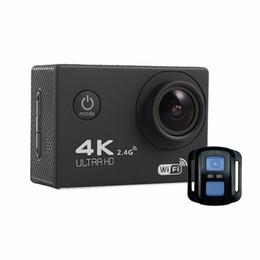 Câmera de ângulo aberto on-line-HD WiFi Esporte Câmera de Ação Filmadora F60R 2.0 Polegada 4K 170 Graus Grande Angular Leve Ao Ar Livre Câmera Capacete Subaquática