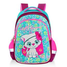 Sacchetti di scuola di moda dolce gatto ragazza impermeabile modello di cartone animato Kid zaino zainetto scuola ragazza zaino libro borsa da giovane pizzo fornitori