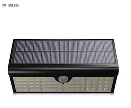 Nuova lampada da parete solare Pieghevole / Impermeabile 58LED / 3W Lampade stradali senza fili Lampada PIR con sensore di movimento da
