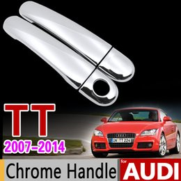 Cubiertas de coche coupé online-Car Chrome Door Handle Cover Set para Audi TT 8j 2007 2008 2009 2010 2011 2012 2013 2014 2014 TTS TT RS Coupe MK2 Accesorios para automóviles