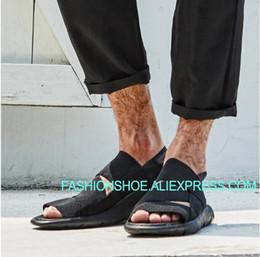 roma black Desconto Hot Summer 2018 dos homens Sandálias de Lazer Ao Ar Livre Gladiators Roma Estilo Preto Breathble Beach Shoes