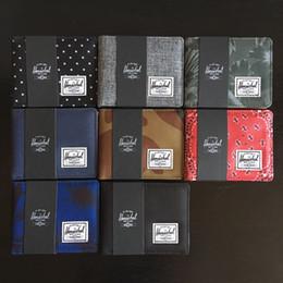 2019 imballaggio per borse Herschel Brand Luxury Purses Titolare della carta Portafogli da uomo e da donna Borsa di tela Moda Unisex Short Coin Pocket Card imballaggio per borse economici