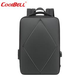 2019 einfache laptop-taschen COOLBELL Rucksack Freizeitrucksack Night Reflective Travel Student Tasche Simple Business 15.6inch USB Laptop rabatt einfache laptop-taschen