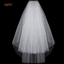 2019 velhos baratos do casamento do marfim barato Simples curto tule véus de noiva barato 2016 branco marfim nupcial véu para noiva para casamento Mariage desconto velhos baratos do casamento do marfim barato