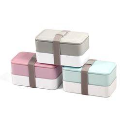 Boîte à lunch deux couches en Ligne-Hot Selling Microwave Safe Plastic Bento Lunch Box ,Two layer