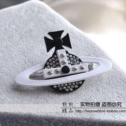 Bijoux européens et américains pour hommes et femmes avec broche en satin de diamant noir et blanc laqué rôti x002 livraison gratuite ? partir de fabricateur