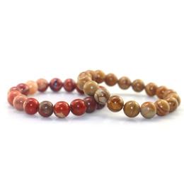 kinder armbänder schwarz rot Rabatt 10 MM Ehrenwerte naturstein Elastische seil perlen armband für männer Armbänder Armreifen Liebhaber Schmuck Weihnachtsgeschenke