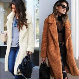 Abra teddies on-line-2019 Novo produto Outono Inverno quente casacos de pele do falso Nova lapela tamanho Grande Mulheres manga Comprida Casacos de pele de Cordeiro Urso de pelúcia casaco 1938