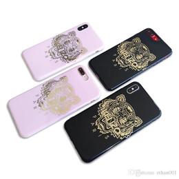 s5 robô híbrido Desconto Rosa tigre preto moda tampa do telefone case para iphone 7 8 8 plus xr x tampa traseira para a apple iphone x xr 7 plus case para iphone xs max