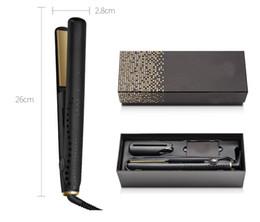 Capelli asciutti online-V Gold Hair Straightener 2.8 * 26cm Black Classic Professional Styler Iron Elettrico Veloce Hair Styling Tools per capelli bagnati e asciutti