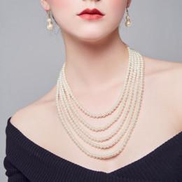 2019 qualidade da pérola aaa 2019 nova europa e américa moda jóias longo declaração colar mulheres personalidade artesanal pérolas artificiais colares