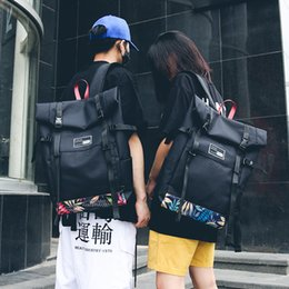 open cloth party Promo Codes - Trendy Double Shoulder Backpack For Both Men And Women Fashionable Oxford Cloth Bag Leisure Art Unique Large Backpack