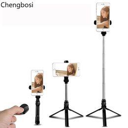 3 In 1 Wireless Stativ Einbeinstativ Selfie-Stick Bluetooth mit Taste Selfie-Stick für Android-Betriebssystem Iphone 678 Plus IOS Selfie-Sticks von Fabrikanten