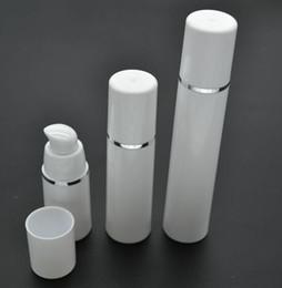 15 ml 30 ml 50 ml alta qualidade branco bomba sem ar garrafa-travel recarregável cosméticos cuidados com a pele dispensador de creme, loção pp embalagem recipiente de