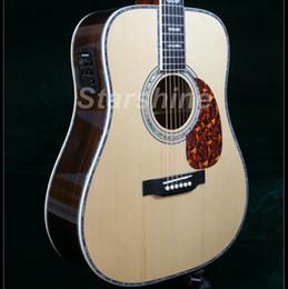 personalizar guitarra Rebajas Guitarra acústica personalizada Starshine ZZ-D45C 12FJoint Picea sólida Cola de milano Vertebral Articulación ósea Tuerca Sillas de montar Abalone Inlay