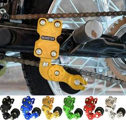 palancas de embrague para honda cbr Rebajas Motocross del rodillo de la herramienta del tensor de cadena del ajustador de aluminio universal para Kawasaki
